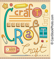 Illustration of Various Materials used for Arts and Crafts
