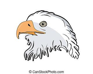 illustration of vector head eagle