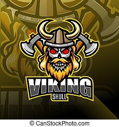 Viking head esport mascot logo