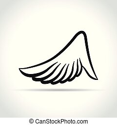 wing design on white background