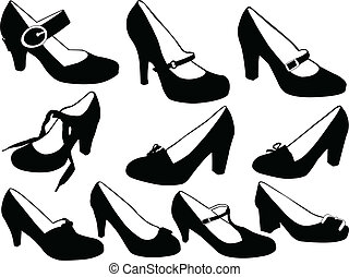 women shoes - vector