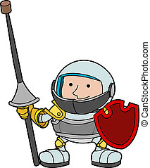 Illustration of young knight