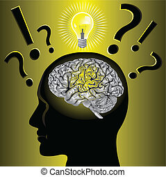 Illustration vector Brain idea and problem solving