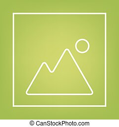 Image line icon on green background