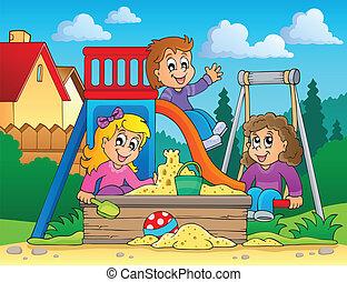 Image with playground theme 2