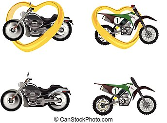 images of motorcycles in various grand touring and cross-country positions
