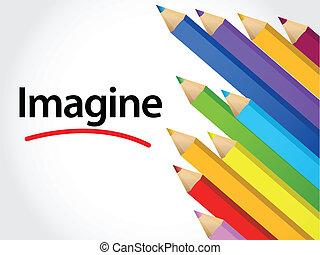 Imagine Multicolored pencils