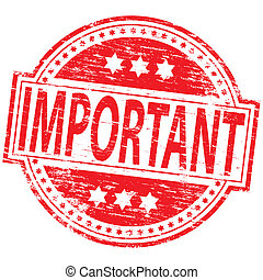 "Rubber stamp illustration showing ""IMPORTANT"" text"