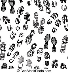 Imprint soles shoes