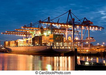 Burchardkai. Harbour Hamburg. Germany