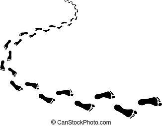 Incoming footprints