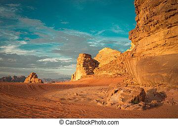 incredible landscape in Wadi Rum
