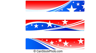Independence Day patriotic banners