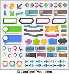 Collection of infographic elements, vector eps10 illustration