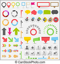 Set of different infographic elements, vector eps10 illustration