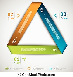 Infographic paper triangle template eps10 vector illustration