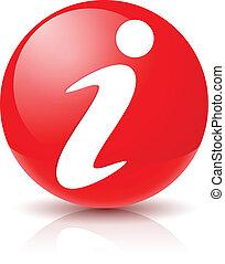 Information Sign Icon. Illustration on white background for design