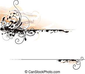 Ink Letter Decoration Background, editable vector illustration