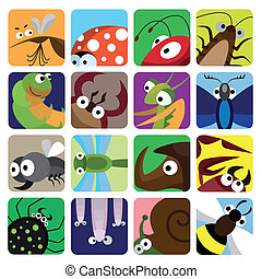 Insect icons set