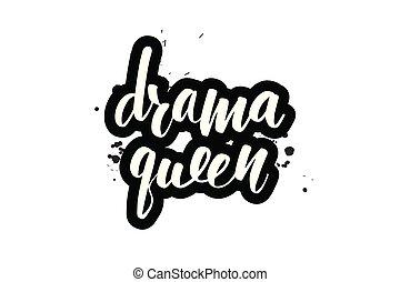 lettering drama queen