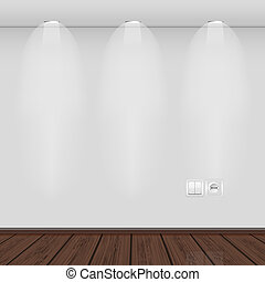 interior with empty wall and parquet. vector illustration. Best choice