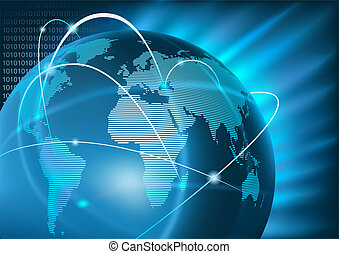Internet Global Business - Background Illustration, Vector