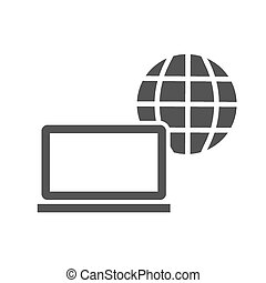 Internet, web, connection, computer icon vector image. Can also be used for communication, connection, technology. Suitable for web apps, mobile apps and print media.