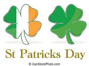 Irish Four Leaf Clover flag. eps available