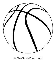 Isolated basketball ball on a white background, Vector illustration