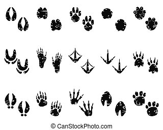 grungy Animal Footprint Track icon