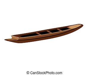isolated canoe on white background vector design