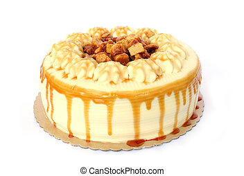 Isolated Coffee Crunch Cake