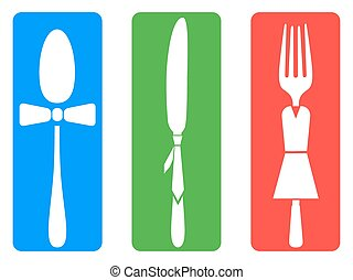 creative fork knife spoon set