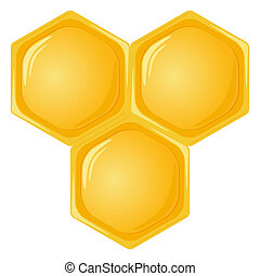 Honeycomb isolated on a white background. Vector illustration.