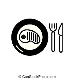 Isolated meat icon line design