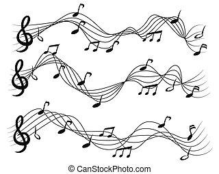 Musical notes set