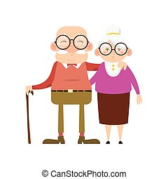 Isolated old couple