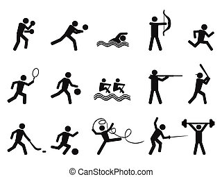 isolated sport people silhouettes icon on white background