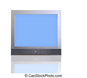 isolated TV with clipping path