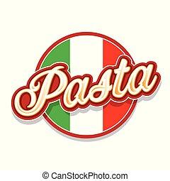 Italian Pasta sign lettering retro