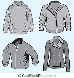 Jacket, hoodie set template