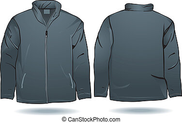 Jacket or sweat shirt template