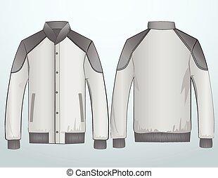 Jacket or sweatshirt template