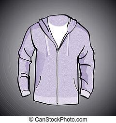 Jacket with Hood or sweatshirt template