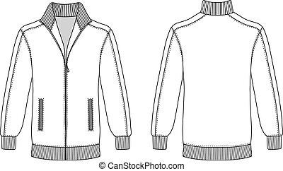 Jacket with zipper