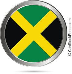 Jamaica flag button.