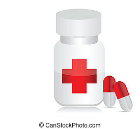 Jar for medicines with tablets