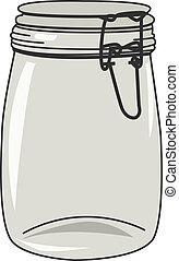 Vector illustration of empty jar