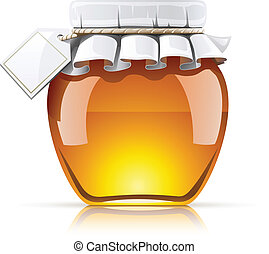 jar with honey vector illustration isolated on white