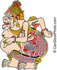 one of the characters in the javanese indonesia puppet